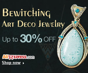 AliExpress- Bewitching Art Deco Jewelry 30% off.