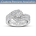 Personalized The Story Of Our Love 3-Band Diamond Ring