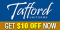 Get 10% OFF now at Tafford Uniforms