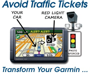 Avoid traffic tickets w/PhantomAlert for Garmin
