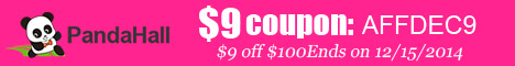 $9 off $100 sitewide coupon (code:AFFDEC9), ends on Dec 15, 2014.