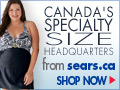 Specialty sizes at Sears.ca