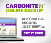 Proctect your files with Carbonite.