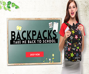 Get Up to 15% OFF Backpacks.