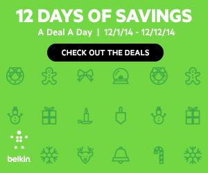 Belkin Store: 12 Days of Savings! Banner 300x250