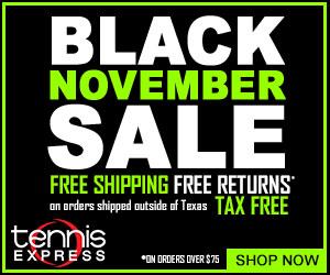 Save big at the Black November sale at Tennis Express. Free shipping and returns.
