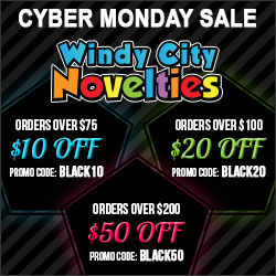 Cyber Monday Sale Spend More Save More on Party Supplies and Decorations plus Free Shipping at Windy
