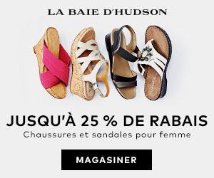 (5/6-5/31) Jusqu'à 25 % de rabais sur les chaussures et sandales pour femme à labaie.com