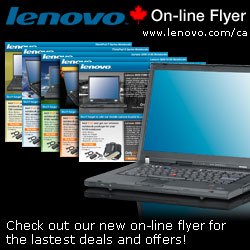 Lenovo's On-line Flyer