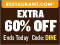 Restaurant.com 80% Off Promo Banner 120x90