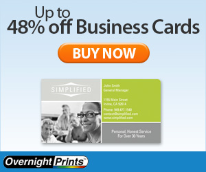 Up to 48% off Business Cards