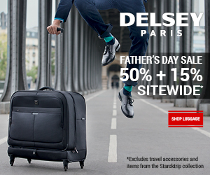 DELSEY Father's Day Sale!  50% + 15%