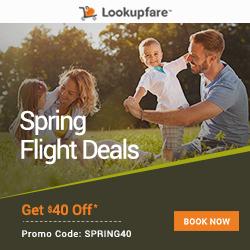 spring flights, spring airfare, lookupfare