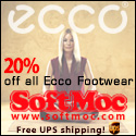 Save 20% On All Ecco Footwear!!