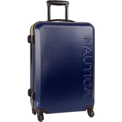 Holiday Special- Nautica Ahoy 25 inch Hardside Spinner Suitcase Now Only $56.95 Org. $340.00 plus free shipping. Use promo AHOY25