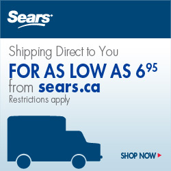 Shipping for as low as $6.95 from Sears.ca