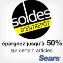Solde d'entrepôt Sears