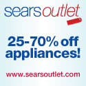 Save 25 20 70% off appliances at Sears Outlet