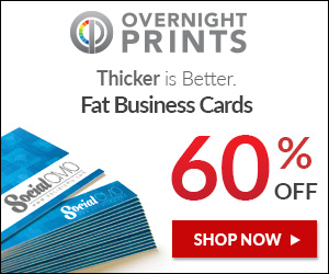 Shop OvernightPrints.com Now and Save 60% on Fat Business Cards!