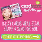 Cardstore Birthday Cards + Free Shipping