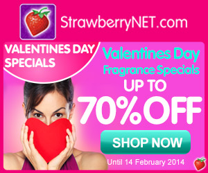 StrawberryNet Valentines Day Fragrance Specials!  Up to 70% OFF!