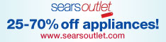 Save 25 � 70% off appliances at Sears Outlet