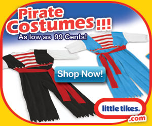 Little Tikes Pirate Costumes $.99
