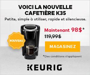Un Petit Brin de Bonheur! Voici la cafetiere K35: petite, simple a utiliser, rapide et silencieuse.