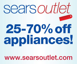 Save 25 – 70% off appliances at Sears Outlet.
