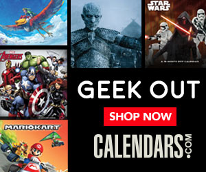Shop Geek Calendars with your favorite superheroes, video games and characters Now!