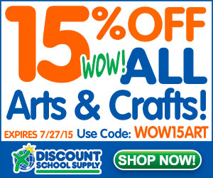 Save 15% Off ALL Arts & Crafts & Get Free Shipping On Orders Of $79