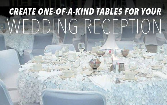 Create One-Of-A-Kind Tables For Your Wedding Reception With Stumps Party!