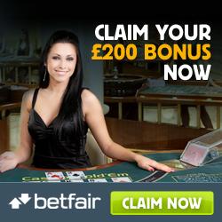 Betfair Casino Promo