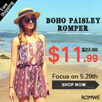 Romwe up to 70% off FASHION LOOKS sale. Free shipping!