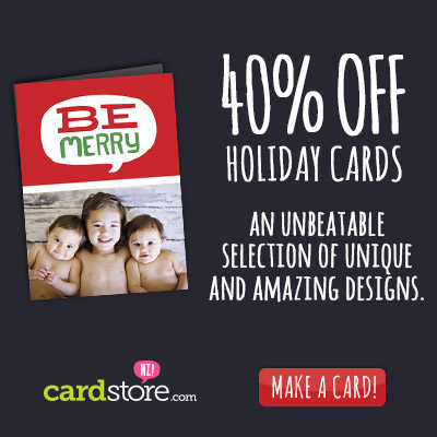 40% off Holiday Cards & Invites + Free Shipping on Orders $30+ at Cardstore! Use code: CCN3224