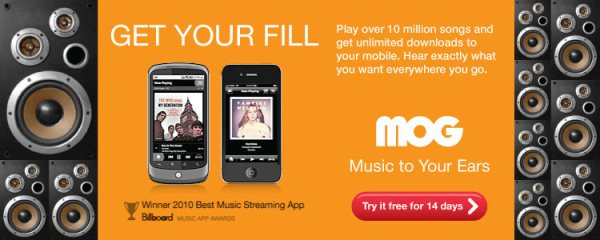 Unlimited Music On Demand. Try MOG Free!