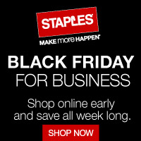 It's Black Friday for Business Week at Staples - Shop online early and save all week only