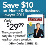 Save $10 on Home & Business Lawyer 2011