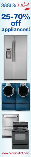 Save 25 � 70% off appliances at Sears Outlet.