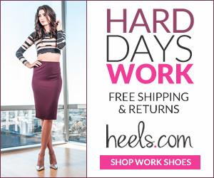 Reward yourself for a hard day's work. Shop Heels.com!