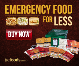 1 Month Emergency Food Supply from eFoodsDirect
