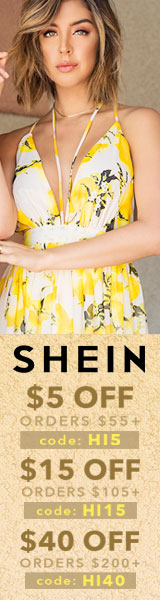 Enjoy $40 off orders $200+ with coupon code HI40 at SheIn.com! Ends 4/17