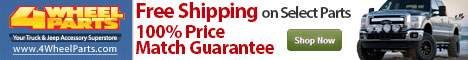 Shop at 4WheelParts.com and get FREE SHIPPING and 100% Price Match Guarantee