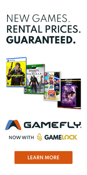 Signup for GameFly today to get the latest PS4, Xbox and Nintendo Switch games!