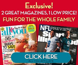 **HOT** All You Magazine and Sports Illustrated Subscription Package only $20!