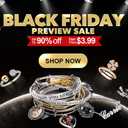 Black Friday Sterling Silver charms start from $3.99 / Personalized photo charms start from $12.95