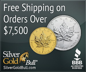 Free Shipping on Orders Over $7500! SilverGoldBull