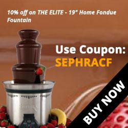Sephra ELITE - 19 Home Fondue Fountain