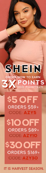 IT'S HARVEST SEASON - Take $30 off orders of $169 with Code: AZY30 at Shein.com. Offer ends 10/29!