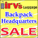JULY 09 COUPON: 15% Off at Irv's Luggage